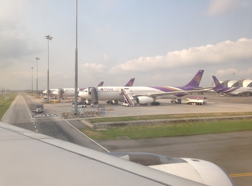 Thai Airways - из Чиангмая в Бангкок на Airbus A330